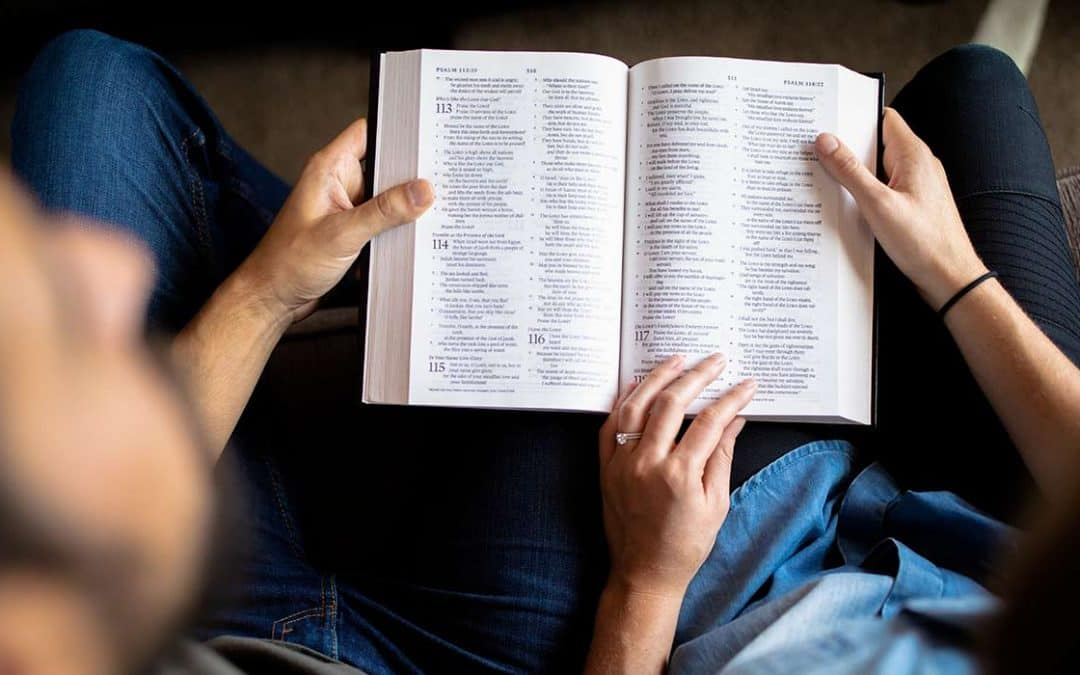 A couple reading the Bible