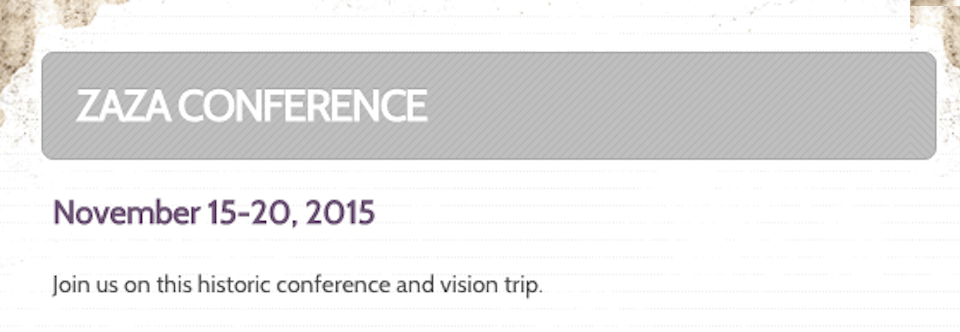 2015 Zaza Alliance Conference